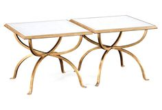 Gold Rodney Bunching Tables, Set of 2 | One Kings Lane