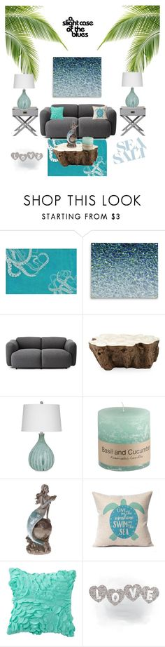 """""""The blues 🌊"""" by peacock-style ❤ liked on Polyvore featuring interior, interiors, interior design, home, home decor, interior decorating, nuLOOM, Normann Copenhagen, Palecek and PBteen"""