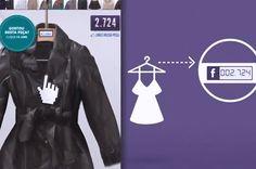 """Você gostaria de ter a opinião das pessoas no Facebook na hora de comprar uma roupa nova? Pois é, a C&A inovou lançando agora dia 21/04 cabides especiais naloja do shopping Iguatemi em São Paulo, que mostram em tempo real, os """"likes"""" que foram dados nas peças da coleção de dia das mães. Integração bem bacana com o mundo das redes sociais."""