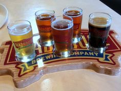 """Its a madhouse! A flight of Madhouse Brewing Company's beers!"" #POTA"