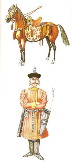 Note how the warrior's clothing almost seems to resemble Buryat clothing, (especially the hat).
