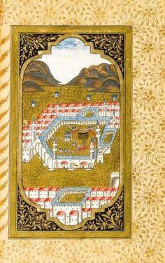 Kaaba-Kabe Kahlil Gibran, Historical Art, Madina, Desert Rose, Mecca, Sufi, Islamic Art, Miniatures, Calligraphy