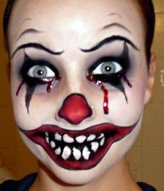 Halloween Series: Killer Clown Makeup Tutorial…This girl does AWESOME Halloween make up! Maquillage Halloween Clown, Clown Halloween, Scary Clown Costume, Scary Clown Makeup, Halloween Makeup Looks, Halloween Skeletons, Halloween Office, Vintage Halloween, Halloween Photos