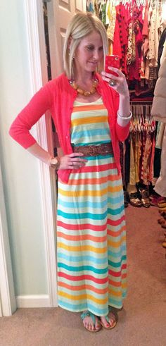maxi dress.cardigan.belt