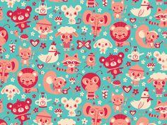 Cute Friends via We Love Patterns