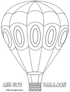 Hotairballoon Coloring Pages Free Printable For Kidsprint Out Hot Air Balloon