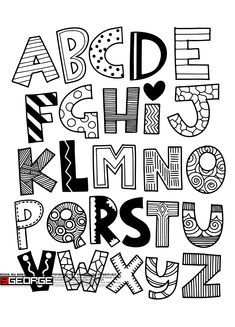 Hand drawn capital cartoon English alphabet with capital letters - Alphabet and FONT - Vector funny comics font. Hand drawn capital cartoon English alphabet with capital letters - Alphabet Drawing, Hand Lettering Alphabet, Doodle Lettering, Creative Lettering, Doodle Alphabet, Font Styles Alphabet, Abc Alphabet, Pretty Fonts Alphabet, Alphabet Letters Design