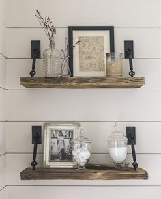 Turnbuckle Shelf Hardware - Can buy through ETSY for $58 for 2 or find a DIY solution