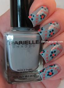 Flowers with dotting tools  - nail art
