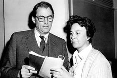 Harper Lee and Gregory Peck read.