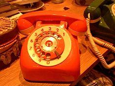 Orange Crate Art: Orange telephone art - #outrageousorange