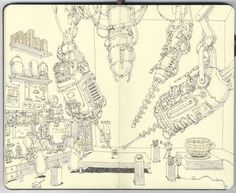Mattias Adolfsson is a freelance illustrator from Sweden. Take a peek inside one of his sketchbooks.