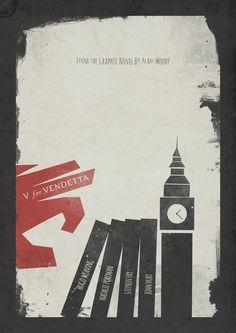 V for Vendetta, Alternative Movie Poster Art Print
