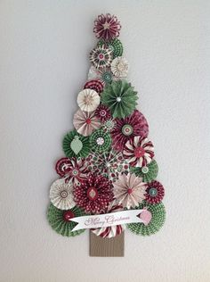 Rosette Christmas Tree...this is a GREAT idea...the link goes to the site only for Stampin' Up! demonstrators