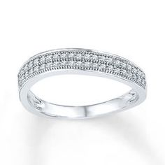 Diamond Anniversary Ring 1/5 ct tw Round-cut Sterling Silver