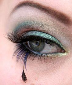 peacock makeup!  Love it!