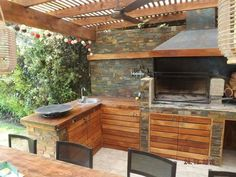 Pergola Attached To House Info: 6472121214 Patio Pergola, White Pergola, Deck With Pergola, Pergola Kits, Outdoor Kitchen Patio, Outdoor Rooms, Outdoor Dining, Outdoor Decor, Parrilla Exterior