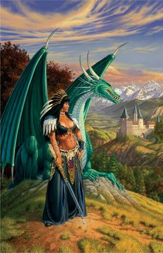 Dragon Magazine -It is only fitting that Larry Elmore painted the artwork used for the final cover. The Last Dragon - Female Mage - Elmore Masterworks - Miniature Lines Fantasy Warrior, Fantasy Dragon, Fantasy Girl, Magical Creatures, Fantasy Creatures, Kobold, Female Dragon, Dragon Artwork, Dragon Rider