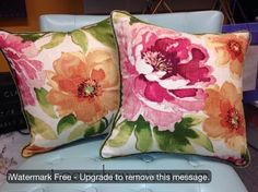 Custom Made Pillows from in our LOOM Workroom. I adore this linen fabric!