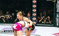 Takedown by #RondaRousey. This was a great judo throw. I could watch it a 1,000 more times.