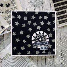 Karten-Kunst » 3D-Schneeflocke in schwarz-weiss – mit Video!