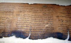 Groundbreaking find: A section of the Dead Sea Scrolls, which were unearthed in 1947