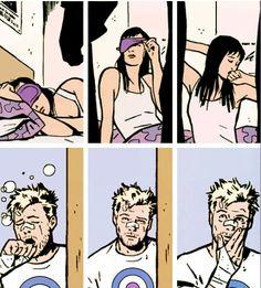 Hawkeyes + being woken up