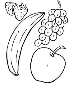 33 Best Fruit Coloring Pages For Kids Images