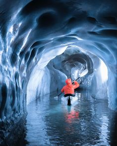 Who wants to kayak in ice caves? Tirol Austria Photo by Camping Photo, Kayak Camping, Canoe And Kayak, Kayak Paddle, Camping Hammock, Canoe Trip, Kayaks, Places To Travel, Places To See