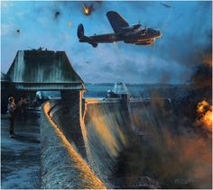 Dambuster - Last Moments of the Möhne Dam. Robert Taylor