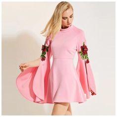 Details about Pink Flower Child Retro Sequin Flower Stretch Flare Sleeve Dress - Elegancia - Flower Girl Fashion, Fashion Outfits, Dress Fashion, Girls Dresses, Flower Girl Dresses, Casual Dress Outfits, African Fashion Dresses, Blouse Dress, Retro Dress
