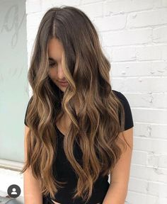 Long Wavy Ash-Brown Balayage - 20 Light Brown Hair Color Ideas for Your New Look - The Trending Hairstyle Brown Hair Balayage, Brown Blonde Hair, Balayage Brunette, Hair Color Balayage, Light Brown Hair, Brunette Color, Balayage Hair For Brunettes, Brown Beach Hair, Sunkissed Hair Brunette
