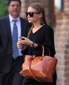 The Many Bags of The Olsen Twins, also in Tan