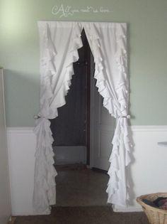Ruffled Curtains Inspired by Anthropologie Arizona Mama