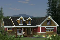 I love this one.  Has 2 potential craft rooms plus still have some guest rooms.  House Plan 51-520