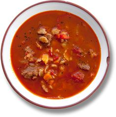 Суп гуляш (Gulyásleves) Goulash, Hungary, Food Videos, Stew, Cooking, Ethnic Recipes, Chowders, Soups, Kitchen