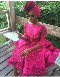 Latest Sequins African Lace Fabric 2017 Flowers Embroidery Lace High Quality Nigerian Lace For Royale Blue Wedding Lace African Fashion Ankara, African Inspired Fashion, African Print Fashion, Africa Fashion, African Wear, African Attire, Nigerian Fashion, African Prints, Ghanaian Fashion