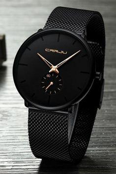 Finiera Minimalist Black Steel Watch Minimalist Watch Collection : AM to PM // watches // mens fashion // affrodable // military // urban men // minimalist // Trendy Watches, Luxury Watches For Men, Cool Watches, Cheap Watches, Black Watches, Fossil Watches, Nixon Watches, Best Watches For Men, Rolex Watches
