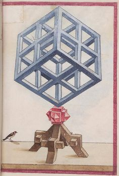 The album of geometric and perspective drawings (Codex Guelf 74. 1. Aug. fol.) from the 1500s is available online from Herzog August Bibliothek in Wolfenbüttel