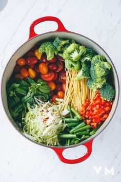 One Pot Vegan Pasta ingredients before cooking