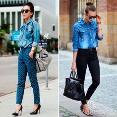 Confira no blog Glam for You dicas de como usar camisa jeans em looks de trabalho, com vestidos, blazer, em looks casuais e muito mais.