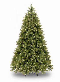 9ft Pre-lit Bayberry Spruce Feel-Real Artificial Christmas Tree