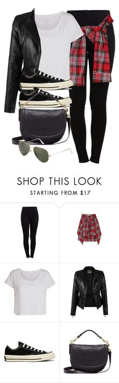 """#13942"" by vany-alvarado ❤ liked on Polyvore featuring Pieces, Converse, Mulberry and Ray-Ban"