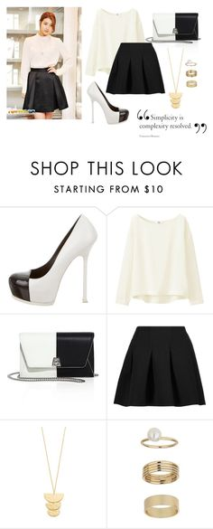 """nbougjhlk45"" by zozanazozane ❤ liked on Polyvore featuring Yves Saint Laurent, Uniqlo, Akris, T By Alexander Wang, Gorjana and Miss Selfridge"