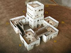 Paper model set: Sci-fi Style Buildings. Foldable Paper Ccenery System. 28 mm…