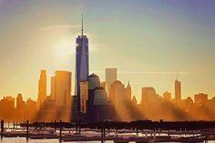 Sunrise over Lower Manhattan by @planet_manhattan - New York City Feelings