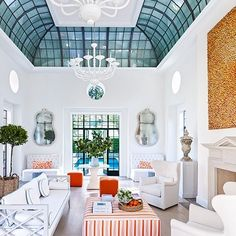 #glass #ceiling Bruce Budd Redecorates Houston Mansion : Architectural Digest