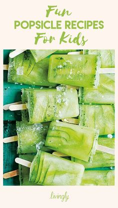 With the weather heating up, everyone is going to start craving ice cream. While a pint of Ben & Jerry's makes it into each of our freezers at one point or another, swap out the super sweet treat for healthier, more natural popsicle alternatives. Click ahead for fun popsicle recipes for your kids — they're so good, you'll be stealing a pop or two yourself.