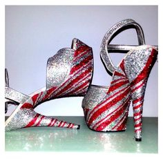 PEPPERMINT TWIST silver red candy cane swirl sexy Christmas crystal... ❤ liked on Polyvore featuring costumes, silver costume, red halloween costumes, burlesque costumes, silver halloween costume and christmas costumes