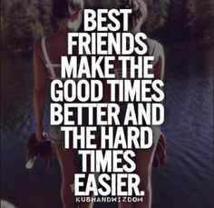 alleen echte vrienden blijven je hele leven! Best friends make the good times better and the hard times easier <3